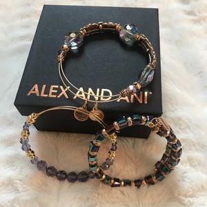 Alex & Ani Lot of 3 Swarovski Bracelets